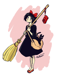 Kiki and Jiji by TariToons