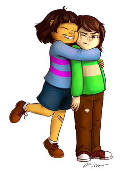 Frisk And Chara by WilllowArts
