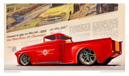 1957 Chevy Pick Up Truck by GaryCampesi