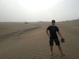Me in the dessert by MarnicSteve92