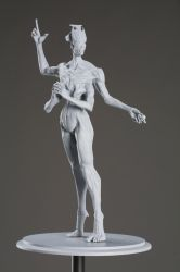 Archon - 3D printed maquette by MadeleineSpencer