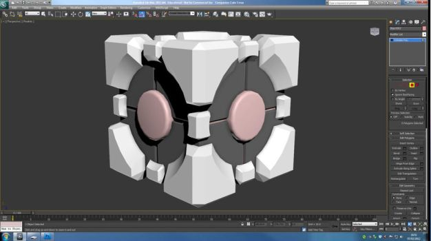 Companion Cube WIP by alliaxandromeda