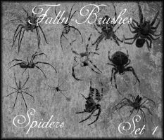 Spider Brushes Set 1 by Falln-Stock