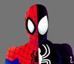The yin and yang of Spider-Man by Darkspike75