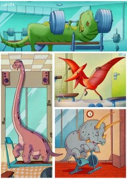 Jurassic Gym by AlexLandish