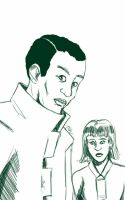 Daily Sketch: Darren and Millie by Hunchy