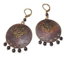 Filigree and rust earrings by JLHilton