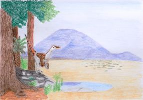 Deinonychus|Dacelo by MaggiefromSpace