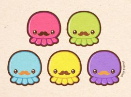 Taste the Moustache Octopus by yumcha