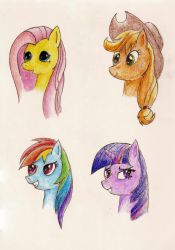 MLP:FiM Bust Sketches 1 by RTFtoon