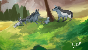Gaggle of Mightyena - WIP