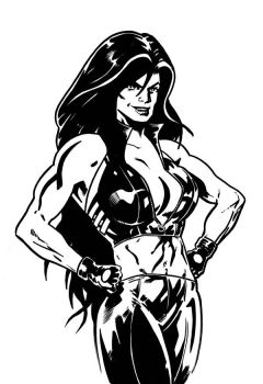 Red She-Hulk by tomcrielly