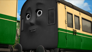 Green Express Coaches with Faces by The-ARC-Minister