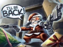 Terminator Santa by yohanpower
