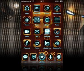 Iron Man fan Theme for iPhone by guillhermes
