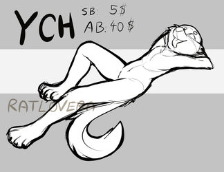 Chill Furry YCH auction (CLOSED) by Ratlovera
