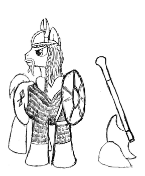 Pony Viking Sketch by Frolda