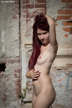 RedClo nude in the ruins 04 by Darthsandr