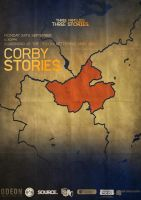 Corby Stories Poster by JSWoodhams