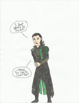 {Gift} Loki Has a Question by AxelThePhoenix