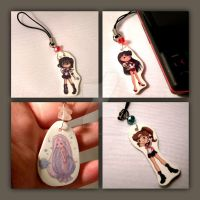 Sailor Moon Phone Charms I by thedustyphoenix