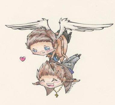 Hashtag Shipping Destiel by moxiepop