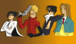 Trigun gang by DitaDiPolvere