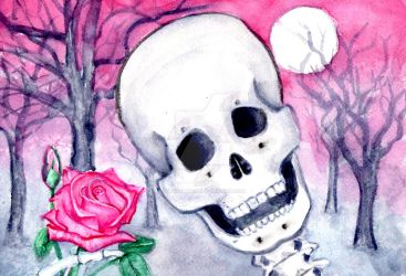 Skeleton With Rose (1) by skybalancer
