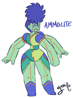 Gemsona Fusion: Purple Ammolite by Yamino