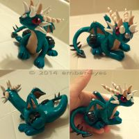 Turquoise Dragon Sculpt by Ember-Eyes