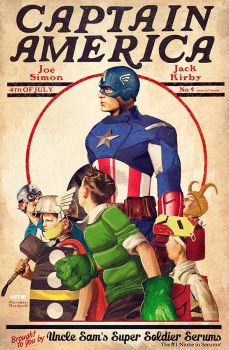 captain america x rockwell by m7781