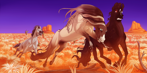 The Race in Desert by EMILY-LIGHT-REVI
