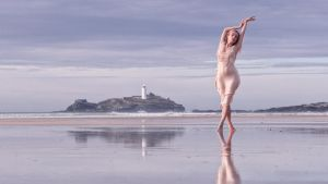 Miss Pixie: Reflection on Gwithian Beach by JeremyHowitt