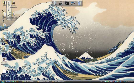 The Great Wave of my Wallpaper by Juan-Ki