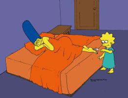 Lisa tickles Marge by solletickle
