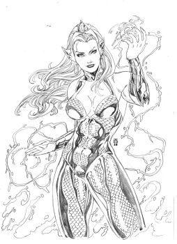 New 52 Mera by JeanSinclairArts