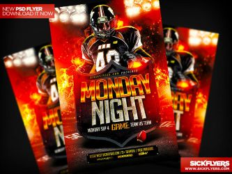 Monday Night Football Flyer Template PSD by Industrykidz