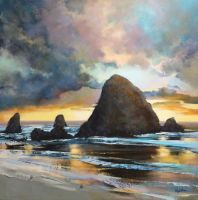 Magic On Cannon Beach by artistwilder
