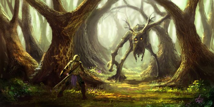 Encountering an Ent by jjpeabody