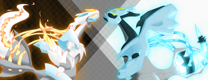 Black and White Kyurem 2 by TonyFicticium