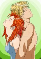 Clary and Jace by Rikakio