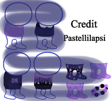 [P2U] Pastel goth Homestuck Sprite Outfits by Pastellilapsi