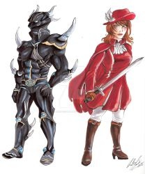 Dark Knight and Red Mage by ArsenicsamA