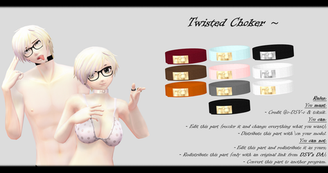 [MMD] Twisted Choker DL ~ by o-DSV-o