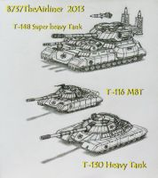 The Red Star's Tanks Arsenal by A320TheAirliner