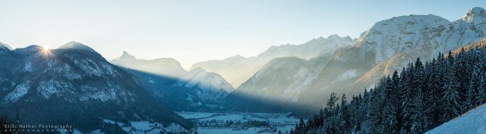 Good Morning Lofer Panorama by Scorpidilion