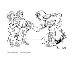 Halflings by JeffDee