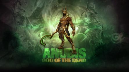 SMITE - Anubis, God of the Dead (Wallpaper) by Getsukeii