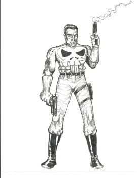 Punisher standing with guns by gandalf0987