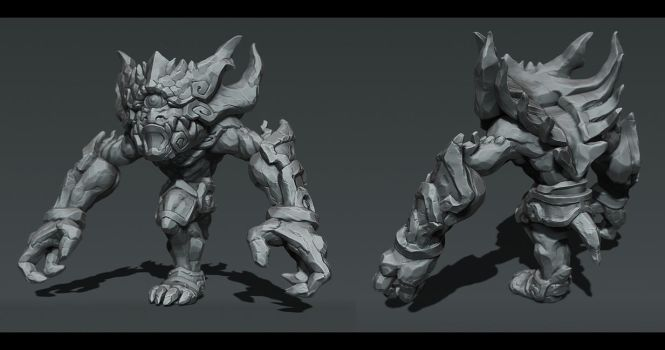 Stone monster by overmind81